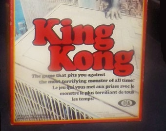Vintage (1976) King Kong board game published by Ideal Corporation. Canadian English-French edition. Complete.