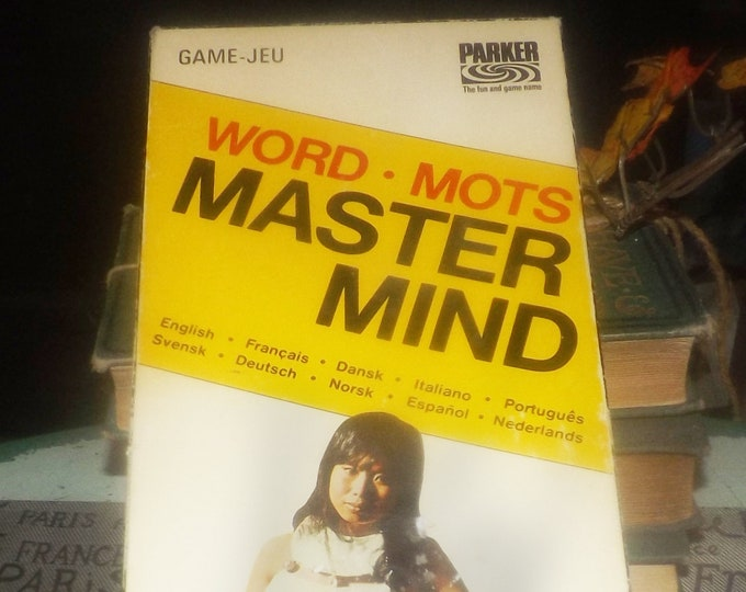 Vintage (1972) Word Mastermind board game made and published in Canada by Parker Brothers as game A261. Complete.