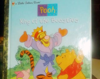 Vintage (1998) Little Golden Books | Disney Winnie the Pooh King of the Beasties hard cover children's book. The value of differences.