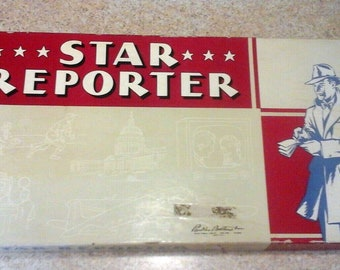 Mid-century (1952) second edition Star Reporter board game published by Parker Brothers.  Incomplete (see below).