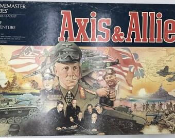 Vintage (1987) Axis & Allies Milton Bradley Strategy | War board game. Milton Bradley Game Master series. Complete, near mint.