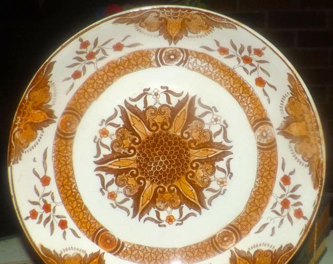 Antique (1910) and scarce Abool Gani Haji Sakoor   AGHS Bombay pattern hand-painted serving bowl. Made in England.