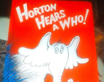 Vintage (1991) children's hardcover book Horton Hears a Who by Dr. Seuss.  Printed, published USA by Random House. Complete.