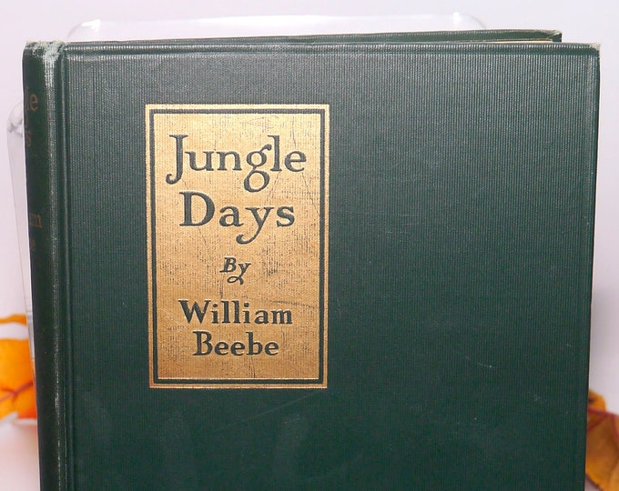 Almost antique (1925) first-edition hardcover book Jungle Days by William Beebe. Published New York G.P. Putnams | Knickerbocker Press.