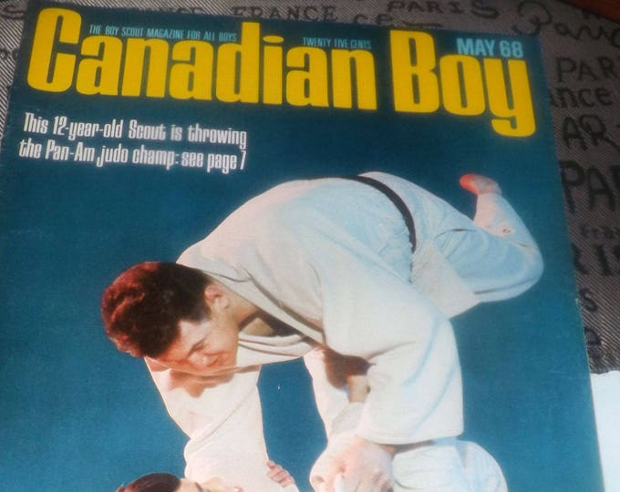 Vintage (May, 1968) Canadian Boy Magazine. The magazine of the Canadian Boy Scouts. Complete.