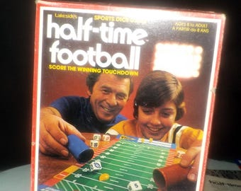 Vintage (1979) First edition Half-Time Football board game published by Lakeside Games | Leisure Dynamics as game 8294. Complete.