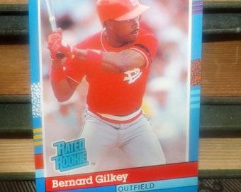 Vintage (1991) DonRuss baseball card #30 Bernard Gilkey RR Outfield St. Louis Cardinals.