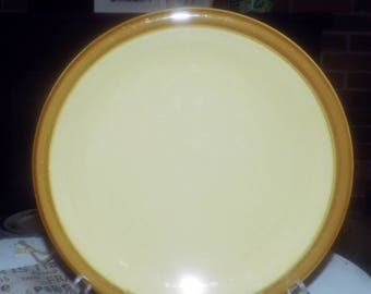 Vintage (1980s) TG Green Church Gresley England Granville luncheon plate.  Beige, tan rim. Hard to find.