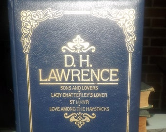 Vintage (1986) DH Lawrence Collection. William Clowes | Heinemann. Hardcover, faux leather, embossed covers, gilt pages. Complete