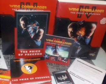 Vintage (1996) Wing Commander IV The Price of Freedom computer | joystick game published by Origin Systems | Electronic Arts. Complete.