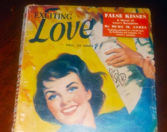 Mid-century (Fall, 1951) Exciting Love pulp romance | love stories magazine.  Vol 17 No 3.  Complete.