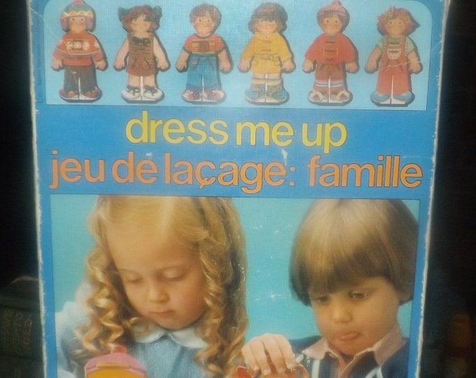 Vintage (1970s) Battat Games | Sallent Hermanos Dress Me Up boy and girl paper doll dress-up game.  Made in Spain.
