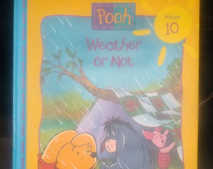 Vintage (1996) hardcover children's book Disney Out and About with Pooh Volume 10 Weather or Not. Grow and Learn Library.