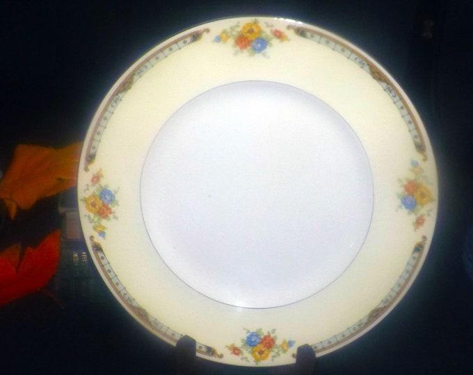 Vintage (1930s) Alfred Meakin Celia art deco dinner plate made in England.