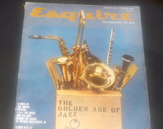 Featured listing image: Mid-century (January 1959) and hard to find Esquire Golden Age of Jazz A Great Day in Harlem magazine. Complete. Art Kane iconic photos