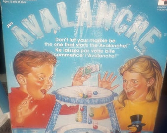 Vintage (1990) Avalanche | Thin Ice board game published by Playtoy.  Made in Canada.  Incomplete (see below).