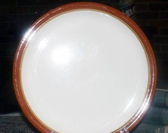 Vintage (1970s) Festival Stoneware Congress 138-1002 dinner plate made in Japan. Sold individually.