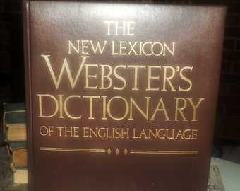 Vintage (1987) hardcover Webster's Dictionary published by Lexicon Publications.  Deluxe edition, embossed covers, gilt-edged pages.