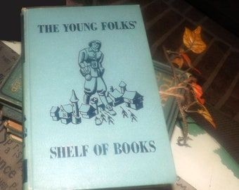 Early mid-century (1948) The Young Folks Shelf of Books Volume 5 Stories that Never Grow Old. Collier USA. Junior Classics. Complete.