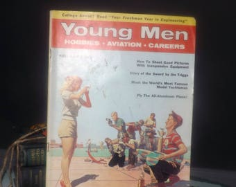 Mid-century (March, 1956) Young Men magazine published in New York by Street & Smith. Complete.