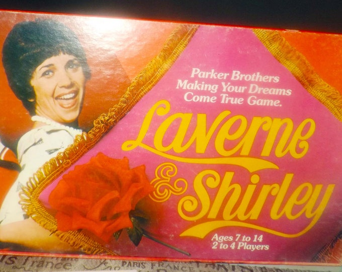 Vintage (1977) Laverne & Shirley board game published by Parker Brothers and based on the long-running TV show of the same name. Complete.