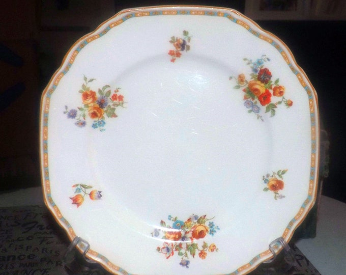 Early mid-century Grindley The Byron luncheon | breakfast plate made in England. Sold individually.