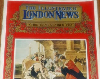 Vintage (December, 1963) Illustrated London News Christmas issue 6483A Vol 243. Complete. Color plates.