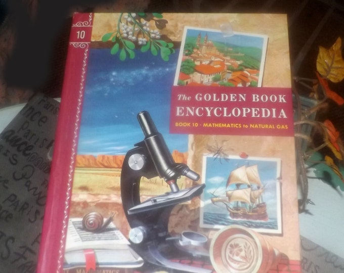 Mid-century (1959) Golden Book hardcover Children's Encyclopedia Volume 10 Ma to Na. Published by Simon & Schuster USA. Complete.