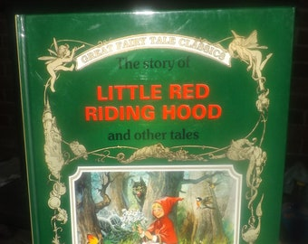 Vintage (1991) hardcover childrens book Great Fairy Tale Classics Little Red Riding Hood and other tales. Peter Holeinone. Italy. Complete.