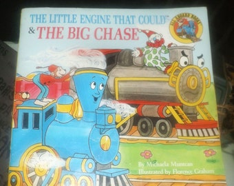 Vintage (1988) The Little Engine that Could and The Big Chase paperback children's book. Printed in USA Platt & Munk. Complete.