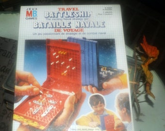 Vintage (1982) Travel Battleship board game. Made in West Germany published by Milton Bradley as game No. C-4419. Complete.