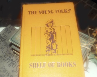 Early mid-century (1948) The Young Folks Shelf of Books Vol 6 Stories About Boys and Girls. Collier USA. Junior Classics. Complete.