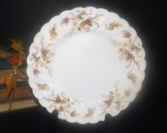 Mid-century Myott Heritage M411PU pattern salad or side plate. Fall florals. Made in England. Sold individually.