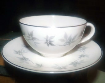 Vintage (1960s) Royal Doulton Kimberly H4961 cup and saucer set made in England. Sold individually.