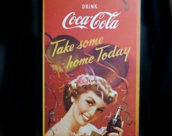 Vintage (1994) 20th Anniversary Coke | Coca Cola Plak-it plaqued poster. Drink Coca-Cola Take Some Home Today.