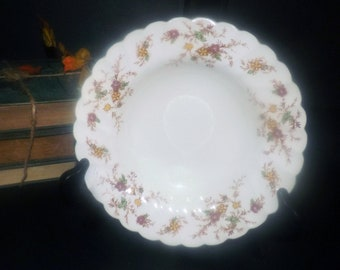 Mid-century Myott Heritage M411PU rimmed soup bowl made in England. Fall florals. Sold individually.