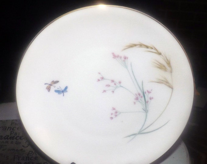 Vintage (1960s) Heinrich Co | H&C Selb Bavaria Sommer DPM2 large dinner plate. Multimotif wildgrasses, wildflowers. Made in Germany.