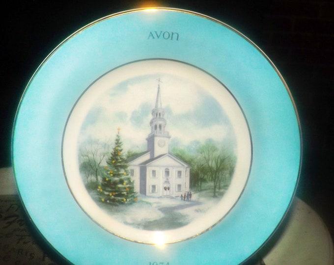 Vintage (1974) Wedgwood for Avon Country Church decorative Christmas plate | Christmas decor | wall decor.