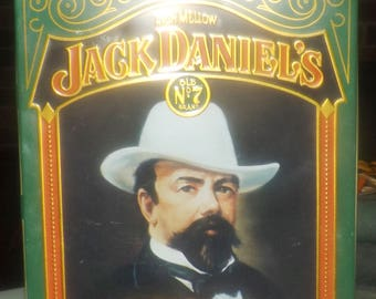Vintage (1980s) Jack Daniels Old Time Tennessee Old No 7 Whisky tin. Hinged lid. Country Gentleman. Barringer, Wallis, Manners England.