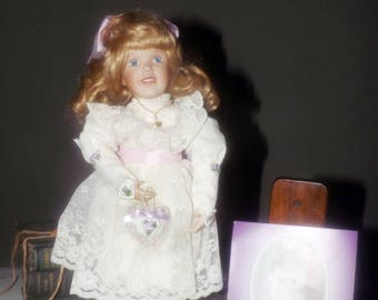 Vintage (1994) Ashton Drake Porcelain Doll made exclusively for Variety Foundation.