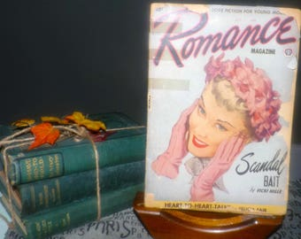Early mid-century (August, 1951) Romance magazine published by Popular Publications | Fictioneers in Canada. Complete. Pulp Fiction.