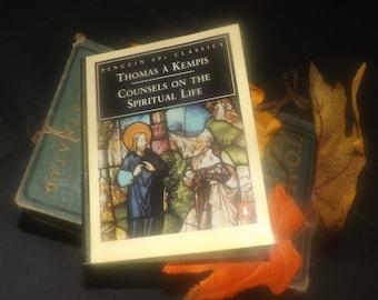 Vintage (1995) paperback mini book Thomas Kempis Counsels on the Spiritual Life. Penguin 60s Classics. Translator Leo Sherley-Price.