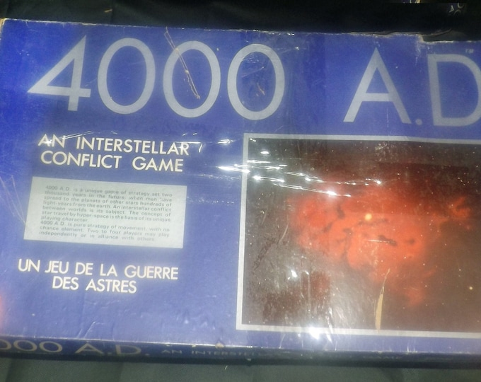 4000 AD vintage board game. Interstellar Conflict Game. 1972 Waddingtons House of Games.