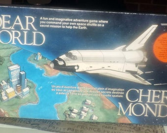Vintage (1988) Dear World board game published by Playtoy Industries.  Space travel | scifi game. Complete.