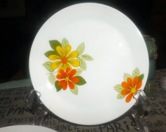 Retro vintage (1970s) Johnson Brothers Sovereign Potters Acapulco bread, dessert, side plate. Sold individually.