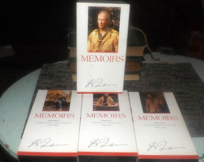 Vintage (1994) 3 Video (VHS tape) set Memoirs The Life of Pierre Elliott Trudeau. Polygram 800-630-773-3.