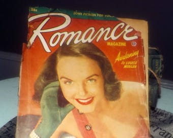 Early mid-century (December, 1951) Romance magazine published by Popular Publications in Canada. Complete. Pulp Fiction.