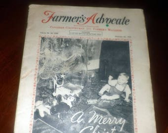 Mid-century (December 26, 1959)  Canadian Countryman and Farmer's Advocate magazine. Christmas issue. Published by William Weld Co.