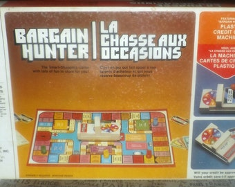 Vintage (1981) Bargain Hunter board game published by Milton Bradley made in the USA. Incomplete (see below).