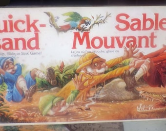 Vintage (1989) Quicksand board game published by Parker Brothers as game A82.  Made in USA.  Incomplete (see details below)